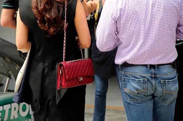 Chanel Bag spotted at Formula 1