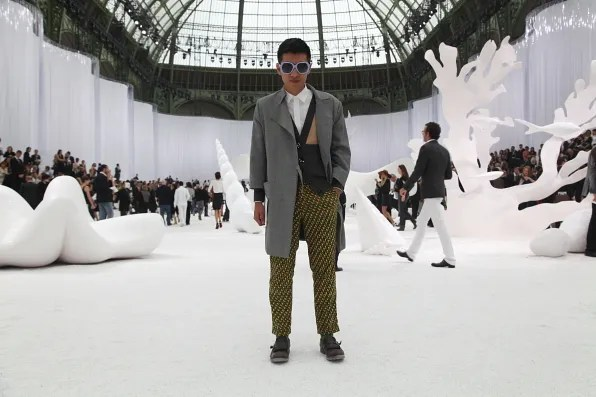 Bryanboy at Grand Palais for the spring/summer 2012 Chanel fashion show
