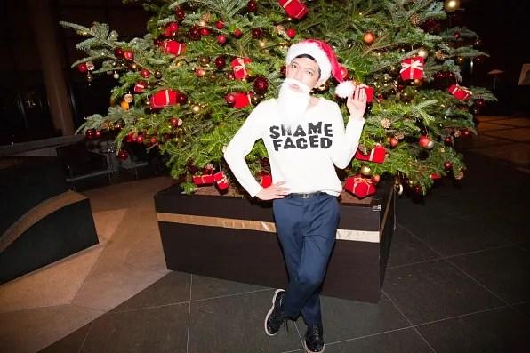 Bryanboy in Santa Claus costume