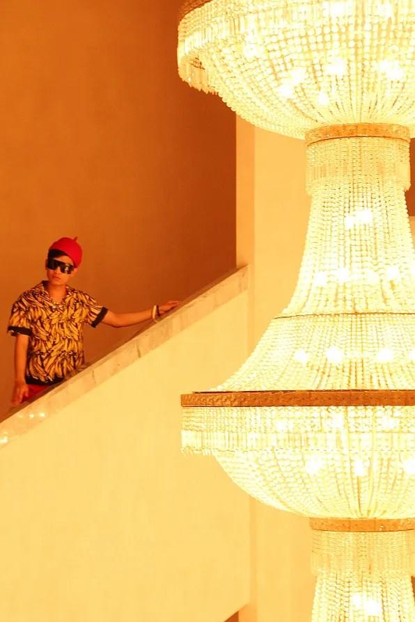 Bryanboy in Prada spring summer 2011 at Marrakech Palais des Congres