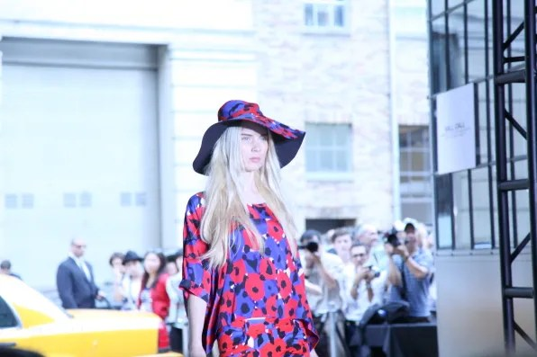 Poppy print at DKNY spring summer 2012 collection