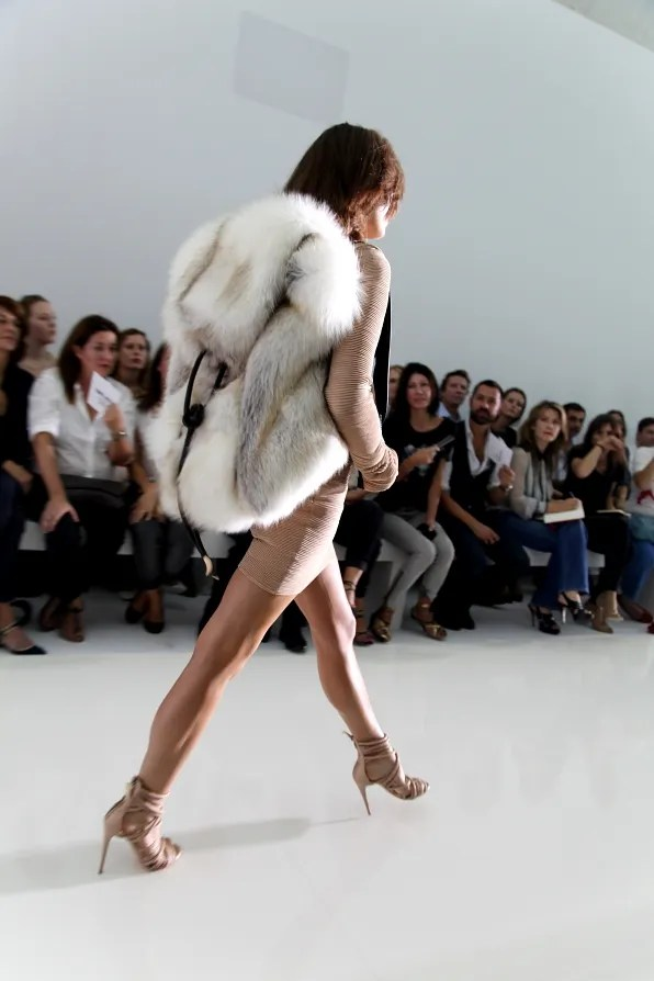 DW Kanye West spring summer 2012 fox fur backpack