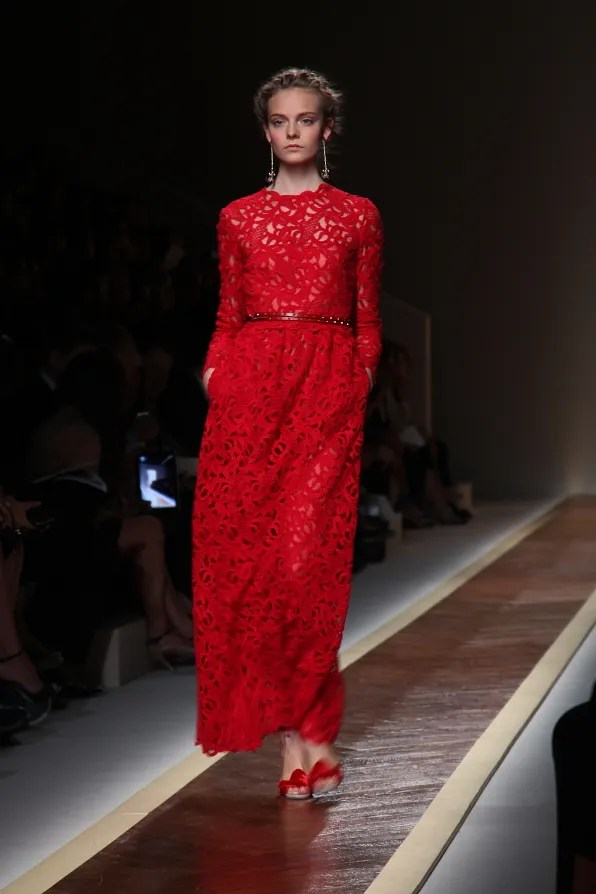 First Look - Valentino spring/summer 2012 red dress