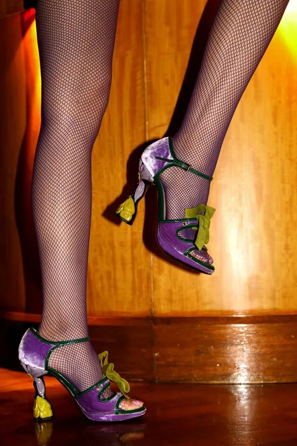 Fogal Flamenco tights, Prada shoes