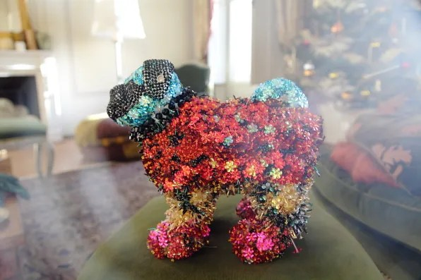 Francois pug dog by Mary Katrantzou for Luisa via Roma