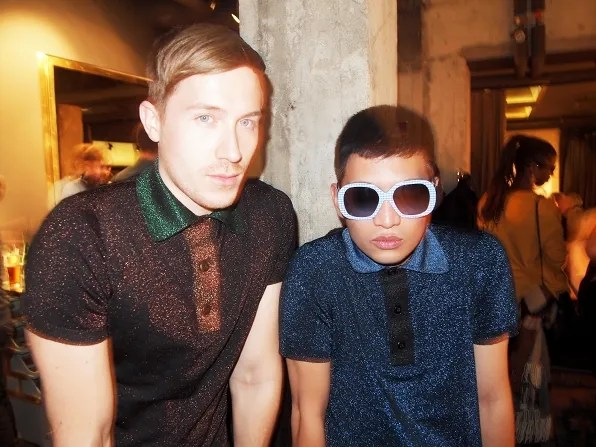 Bryanboy and Fabian wearing Prada