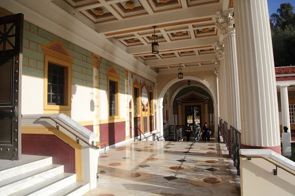 Getty Villa Museum exit