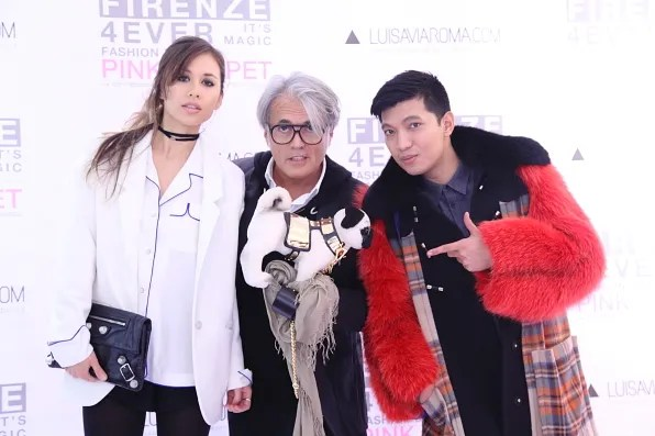 Rumi Neely, Giuseppe Zanotti and Bryanboy at Luisa via Roma spring summer 2012 Firenze4Ever