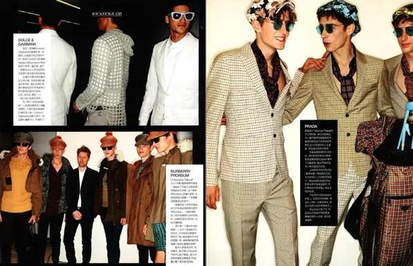 GQ Style China - Dolce & Gabbana, Burberry Prorsum, Prada Spring Summer 2012