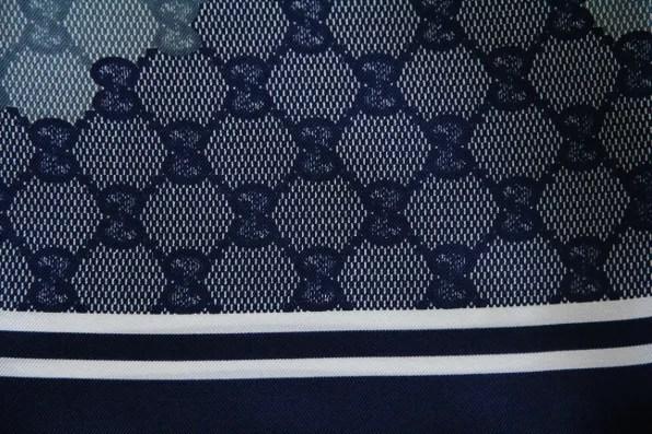 Gucci monogram silk scarf, blue