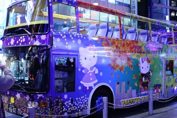 Hello Kitty bus in Shinjuku