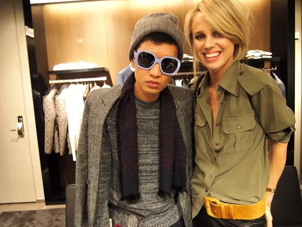 Bryanboy and Elin Kling at Hugo Boss flagship store opening, Stockholm