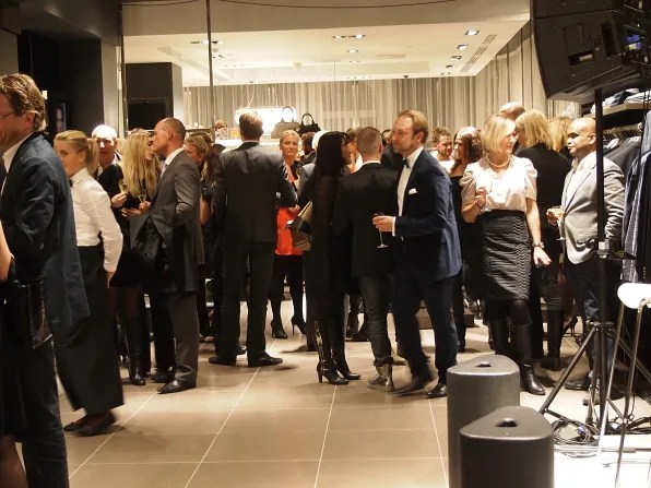 The crowd at Hugo Boss store opening in Stockholm
