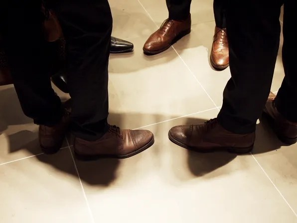 Brown shoes at Hugo Boss
