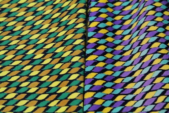 two types of printed Indian cotton fabric