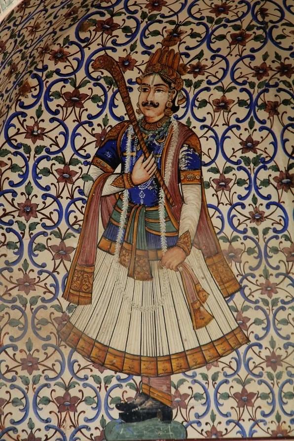 Restaurant mural in Jaipur