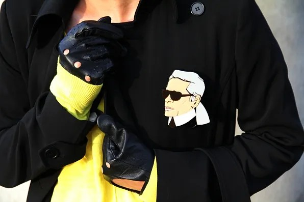 image of Karl Lagerfeld brooch by Yazbukey