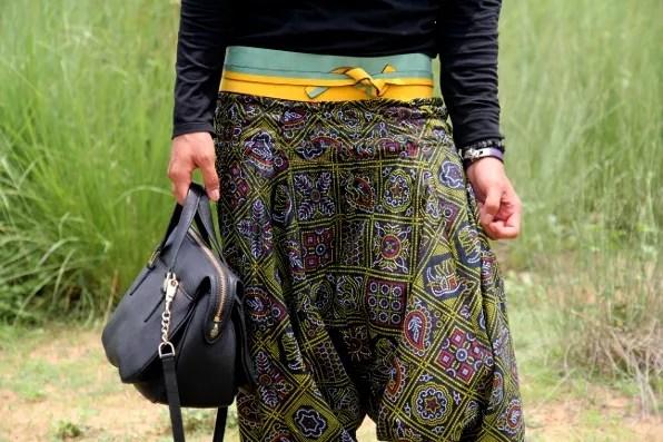 Kenzo green and yellow obi belt