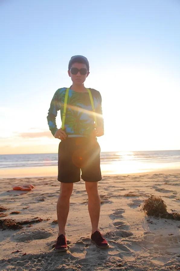 Bryanboy visiting Zuma Beach in Malibu, California