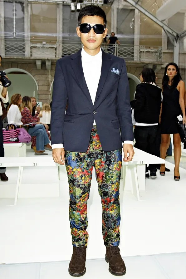Bryanboy front row at Versace spring/summer 2012
