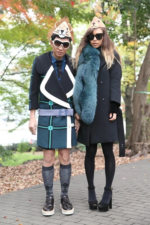 Bryanboy and Rumi Neely in Prada fall/winter 2011