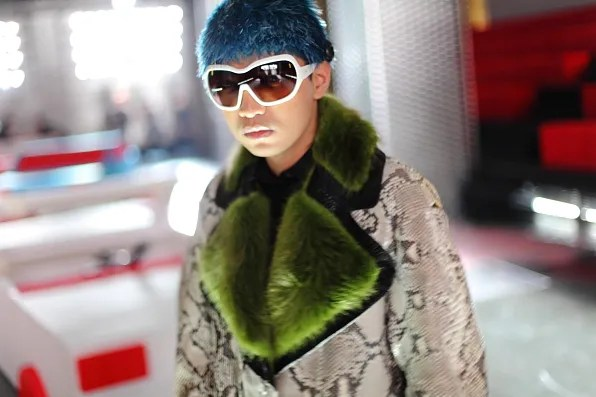 Bryanboy wearing a runway look from Prada fall winter 2011