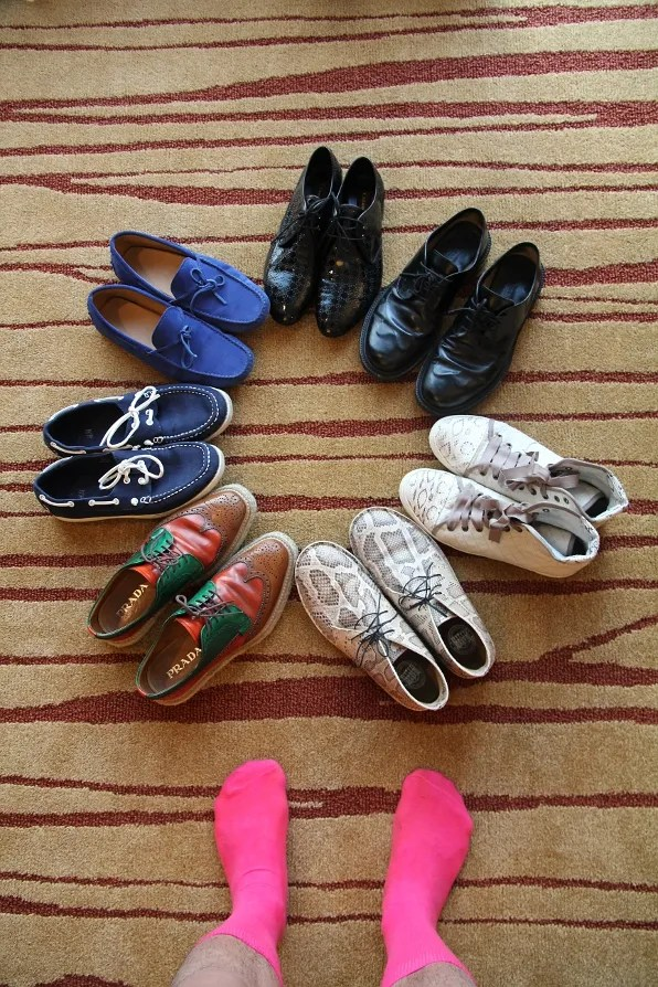 Shoes on rotation: Prada, Acne, Lanvin, Jil Sander, Cesare Paciotti, Tod's, H&M