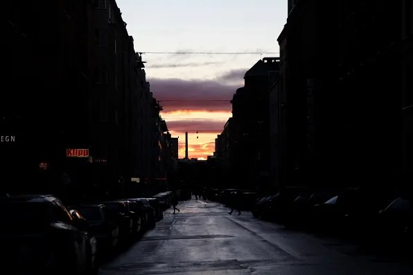 Södermalm Sunset, Swedish Dusk