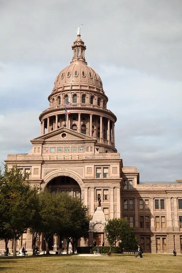 Outside Texas State Capitol, Austin Texas