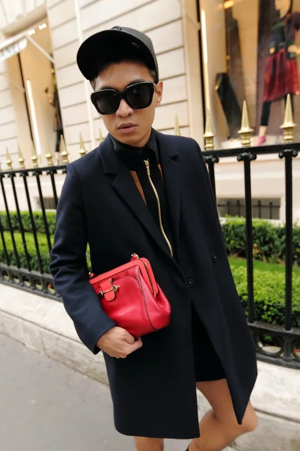 Bryanboy outside Chanel, Avenue Montaigne Paris