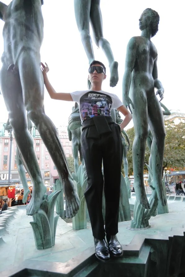Bryanboy in Stockholm wearing Balenciaga autumn winter 2012