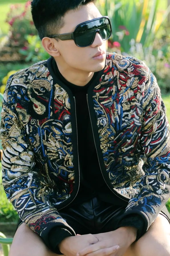 Bryanboy wearing a Barbara Bui jacket from fall/winter 2012 collection
