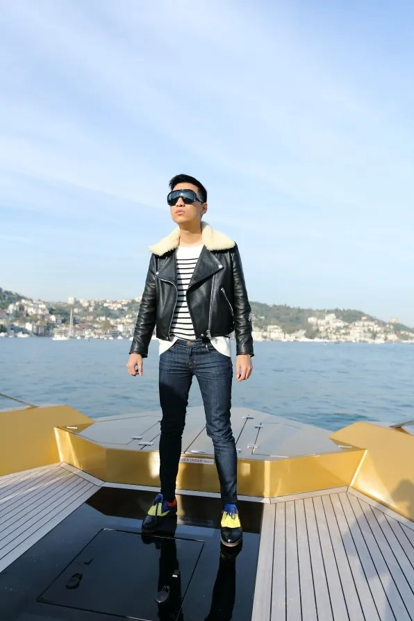 Bryanboy cruising at the Bosphorus in Istanbul