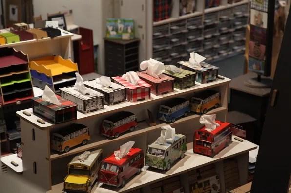 Tissue boxes at Modulor Berlin
