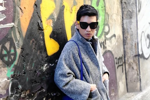 Bryanbou in a Cachentta Fall Winter 2011 coat