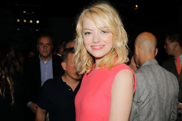 Emma Stone at Calvin Klein Collection Spring 2013 fashion show