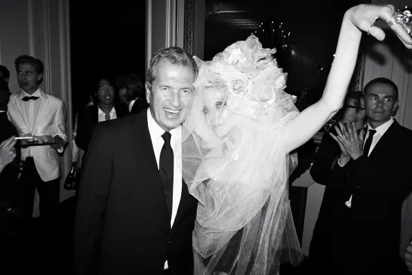 Mario Testino and Susanne Bartsch at the Carine Roitfeld black-tie 'Le Bal' for MAC Cosmetics
