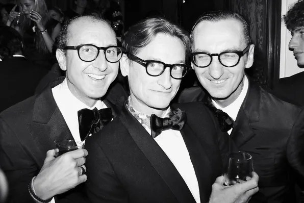 Gianlucca Longgo and Hamish Bowles at the Carine Roitfeld black-tie 'Le Bal' for MAC Cosmetics