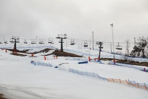 Flottsbro Sweden skiing slope