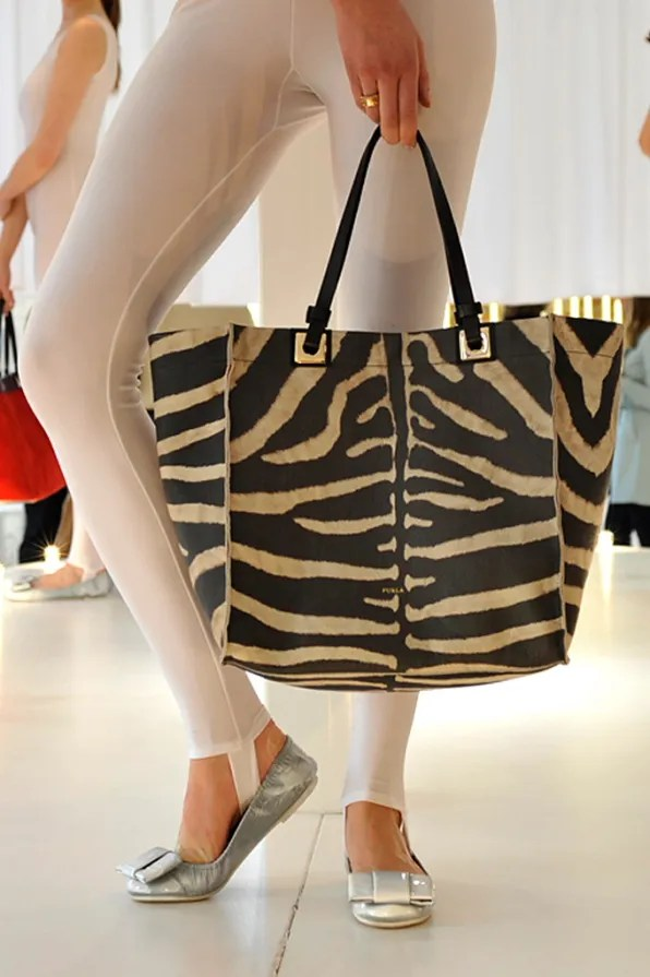 Furla And I zebra print tote bag