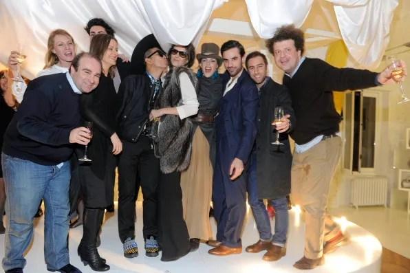 Massimiliano Galletti, Guido Taroni, Alice Carli and Bryanboy at Furla Milan