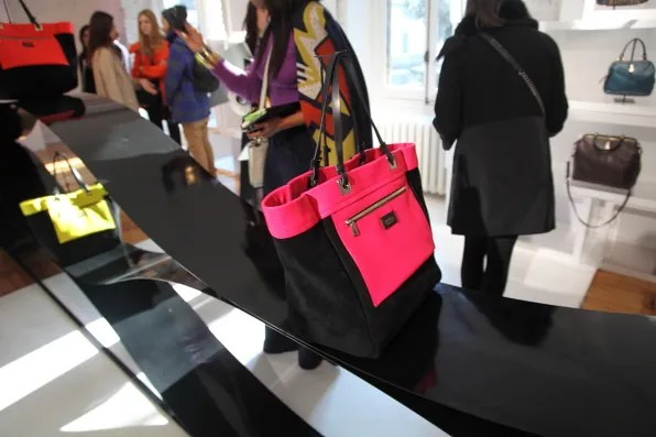 Furla and I pink and black tote bag