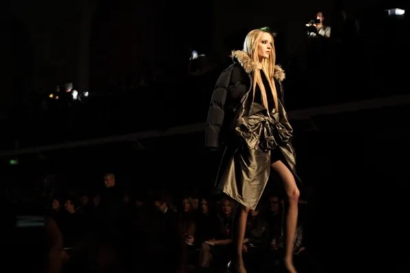 Daria Strokous at Jean Paul Gaultier Fall Winter 2012 fashion show