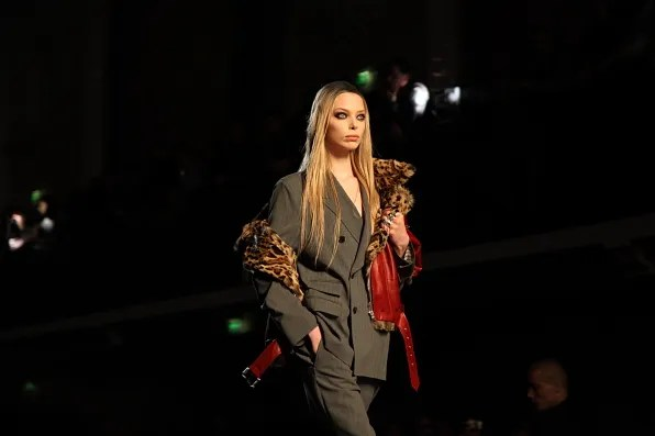 Tanya Dziahileva at Jean Paul Gaultier Fall Winter 2012 fashion show