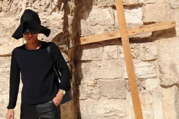 Bryanboy outside Church of the Holy Sepulchre