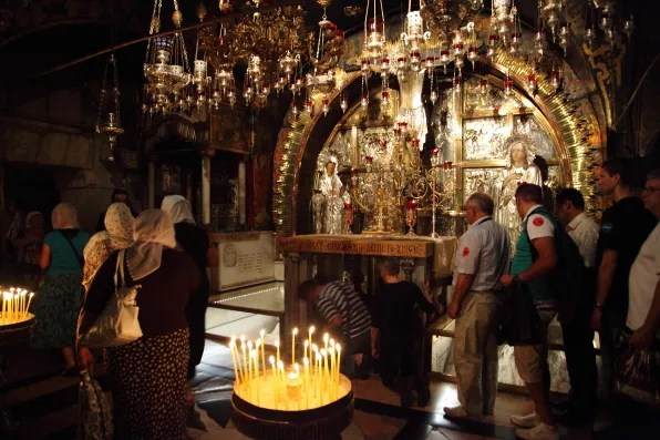 Altar of Crucifixion at Church of the Holy Sepulchre