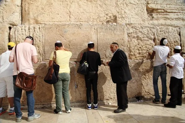 Bryanboy praying at the Western Wall, Jerusalem