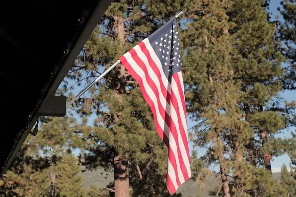 American Flag in Lake, Tahoe