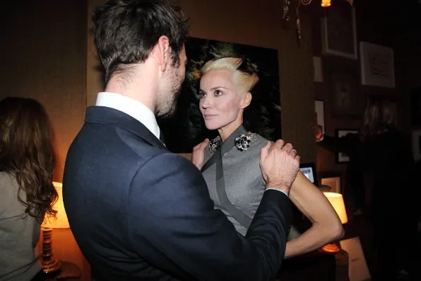 George talking to Daphne Guinness
