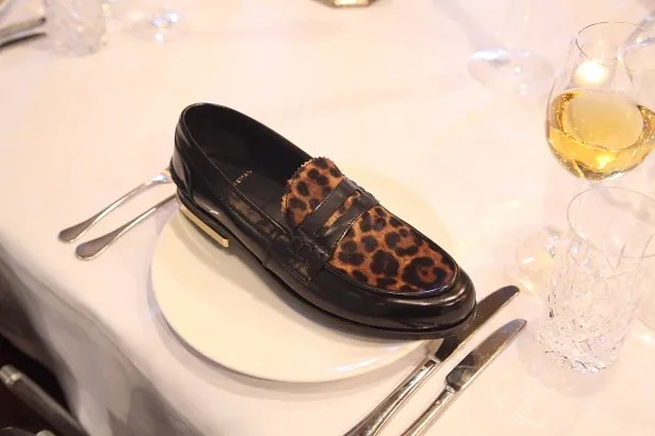 Louis Leeman Paris shoes fall winter 2012 leopard pony skin loafer